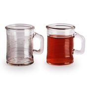 Circle Glass Canned 5 oz. Mini Handled Mugs (Set of 6)