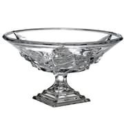 Circle Glass Magnificent Footed Crystal Fruit Bowl