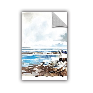 Breakwater Bay Amiyah Modern Boat on Shore II Wall Decal; 24'' H x 16'' W x 0.1'' D