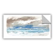 Highland Dunes Caesar Sea View Wall Decal; 16'' H x 24'' W x 0.1'' D