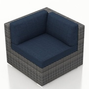 Harmonia Living District Corner Section Chair w/ Cushion; Spectrum Indigo