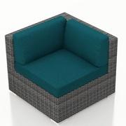 Harmonia Living District Corner Section Chair w/ Cushion; Spectrum Peacock