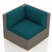 Harmonia Living Element Corner Section Chair w/ Cushion; Spectrum Peacock