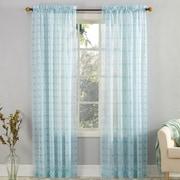 No. 918 Mora Fretwork Print Sheer Voile Single Curtain Panel; 59'' W x 84'' L