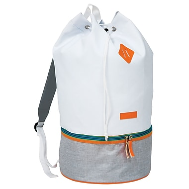 Fitkicks Active Lifestyle Throwback Bag, White (FITTB-WHT)