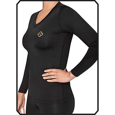 Copper88™ Ladies Long Sleeve Shirt, X-Large, Black (CP838-XL )
