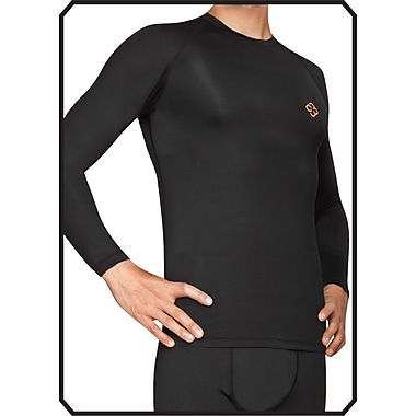 Copper88™ Mens Long Sleeve Shirt, Small, Black (CP834-S )