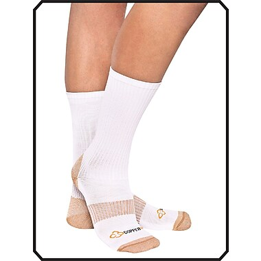 Copper88™ Ladies Mid Socks, 6-9, White (CP822 )