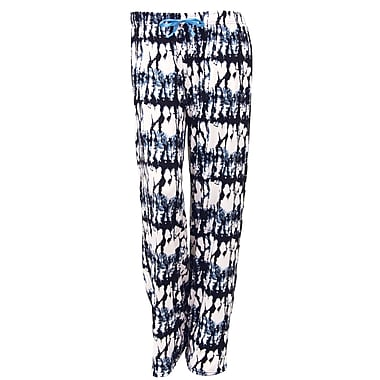 Hello Mellow Lounge Pants, Small, Black/White/Blue Fits Size 4-8