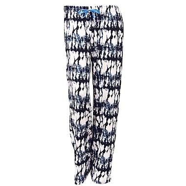 Hello Mellow Lounge Pants, Large, Black/White/Blue Fits Size 12-16