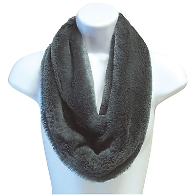 Britt's Knits – Écharpe infinie ultra moelleuse, anthracite (PPINF-CHR)