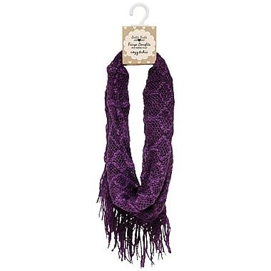Britt's Knits – Écharpe Knitt Infinity en tricot, violet (BKFB-PUR)