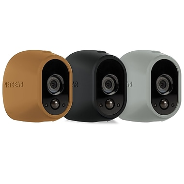NETGEAR – Coques en silicone multicolores remplaçables pour Arlo, brun, noir, gris, paq./3 (VMA1200D-10000S)