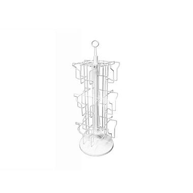 Présentoir pivotant Futech pour cartes de souhaits, pour comptoir, LCH-002C, 30 x 10 x 10 po, blanc