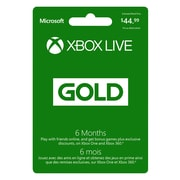 6 Month Xbox Live Gold Membership [Download]