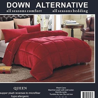 JCP Hometex Inc. 3 Piece Queen Comforter Set; Burgundy