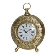 Jeco Inc. Table Clock; Gold