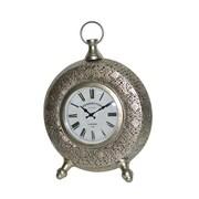Jeco Inc. Table Clock; Silver