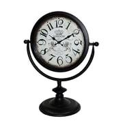 Jeco Inc. Table Clock; Black