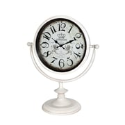 Jeco Inc. Table Clock; Off White
