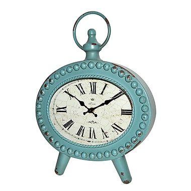 Jeco Inc. Table Clock; Blue