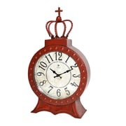 Jeco Inc. Table Clock; Red