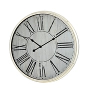 Jeco Inc. 21'' Wall Clock; Off White