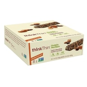 thinkThin Protein Nut Bars Dark Chocolate Salted Caramel, 1.4 oz, 10 Count