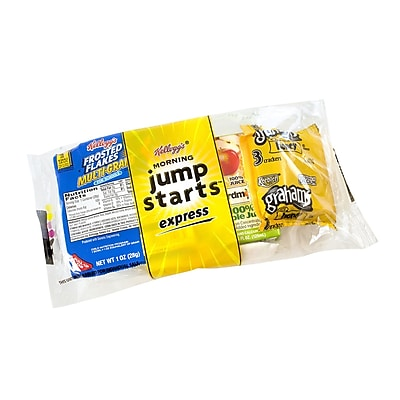 Kellogg's Jump Start Express w/ Frosted Flakes, Apple Juice and Grahams, 44 Count