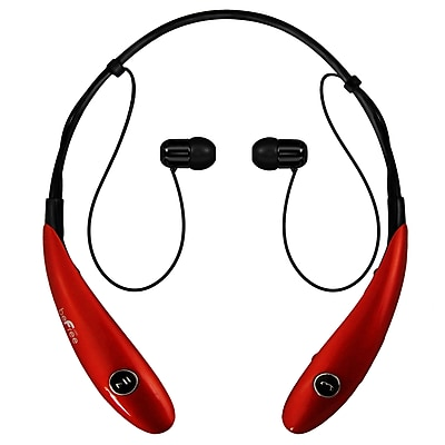 beFree Sound BHBT-7X-RED Bluetooth Wireless Active Headphones with Microphone in Red