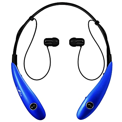 beFree Sound BHBT-7X-BLU Bluetooth Wireless Active Headphones with Microphone in Blue