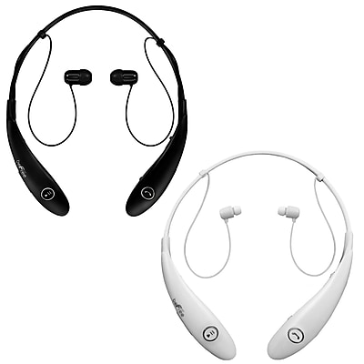 beFree Sound BHBT-7X-BLK-WHT Bluetooth Wireless Active Headphones with Microphone in Black and White
