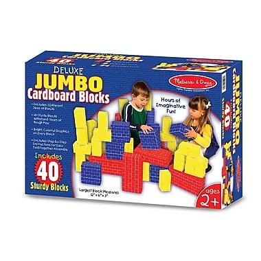 Melissa & Doug 40 Piece Deluxe Jumbo Cardboard Blocks (LCI2784)