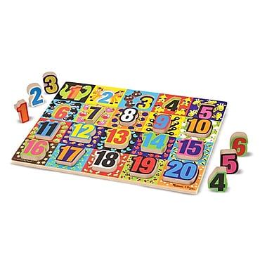 Melissa & Doug Jumbo Numbers Chunky Puzzle (LCI3832)