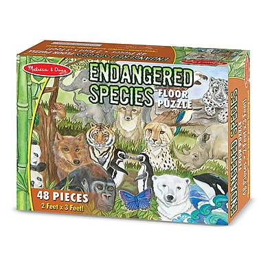 Melissa & Doug® Floor Puzzle, Endangered Species (LCI4437)