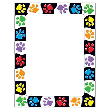 Trend Enterprises Terrific Papers Paw Prints 8 1/2