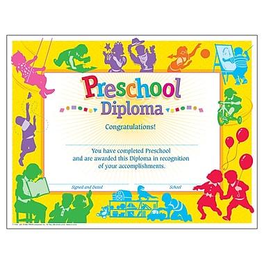 Trend Enterprises® Classic Preschool Diploma, PK-K Certificates & Diplomas, 30/Pack (T-17001)