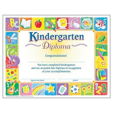 Trend Enterprises® Classic Kindergarten Diploma, 8 1/2