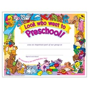"Trend Enterprises® 8 1/2"" x 11"" Look Who Went To pre-school! Certificate, 30/Pack (T-341)"