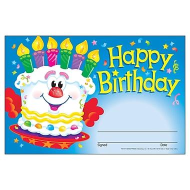 Trend Enterprises® Recognition Awards, Happy Birthday (Cake)