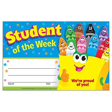 Trend Enterprises® Recognition Awards, Student of The Week (Crayons)