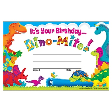 Trend Enterprises Birthday Dino-Mite Pals™ Recognition Award, 240/Set(T-81057)