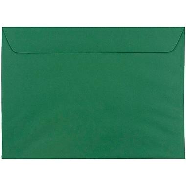 JAM Paper® 9 x 12 Booklet Envelopes, Dark Green, 25/pack (263915982)
