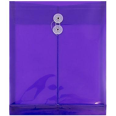 JAM Paper – Enveloppes en plastique ouvertes format lettre, 9 3/4 x 11 3/4 po, violet, paq./12