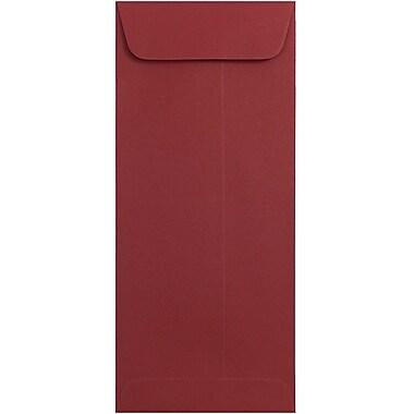 JAM PaperMD – Enveloppes à ouverture au sommet format invitation avec ferm. gommée, 4 1/8 x 9 1/2 po, rouge foncé, 100/pqt