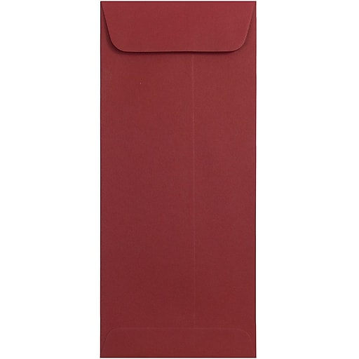 JAM Paper® #10 Policy Business Envelopes, 4.125 x 9.5, Dark Red, Bulk 500/Box (31511300H)
