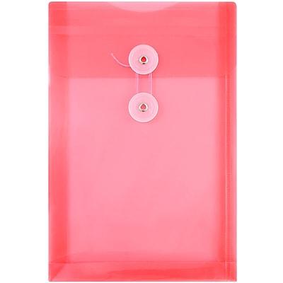 JAM Paper® Plastic CD Case Portfolio with Elastic Closure, 5 x 5 5/8 x 3/8, Clear, 24/pack (0334549B)