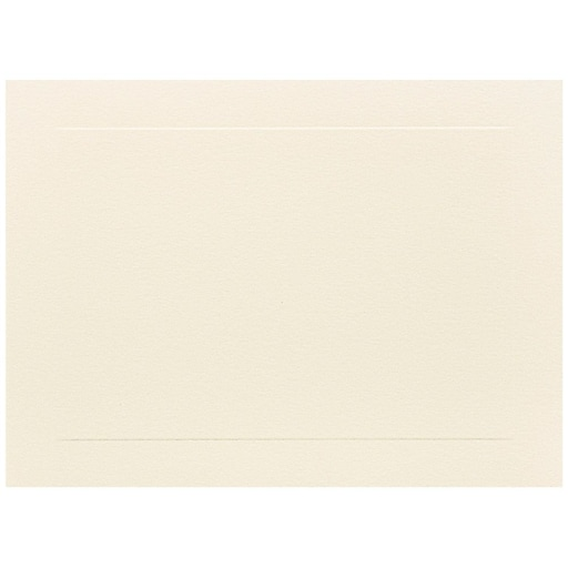 JAM Paper® Blank Flat Note Cards, A6 Size, 4 5/8 x 6 1/4, Ivory Panel, 50/Pack (175995i)