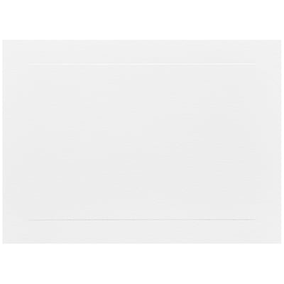 JAM Paper® Blank Note Cards, A7 size, 5 1/8 x 7, White Panel, 50/pack (1751009i)