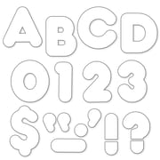 "Trend Enterprises® Casual Ready Uppercase Letter, 2"", White"